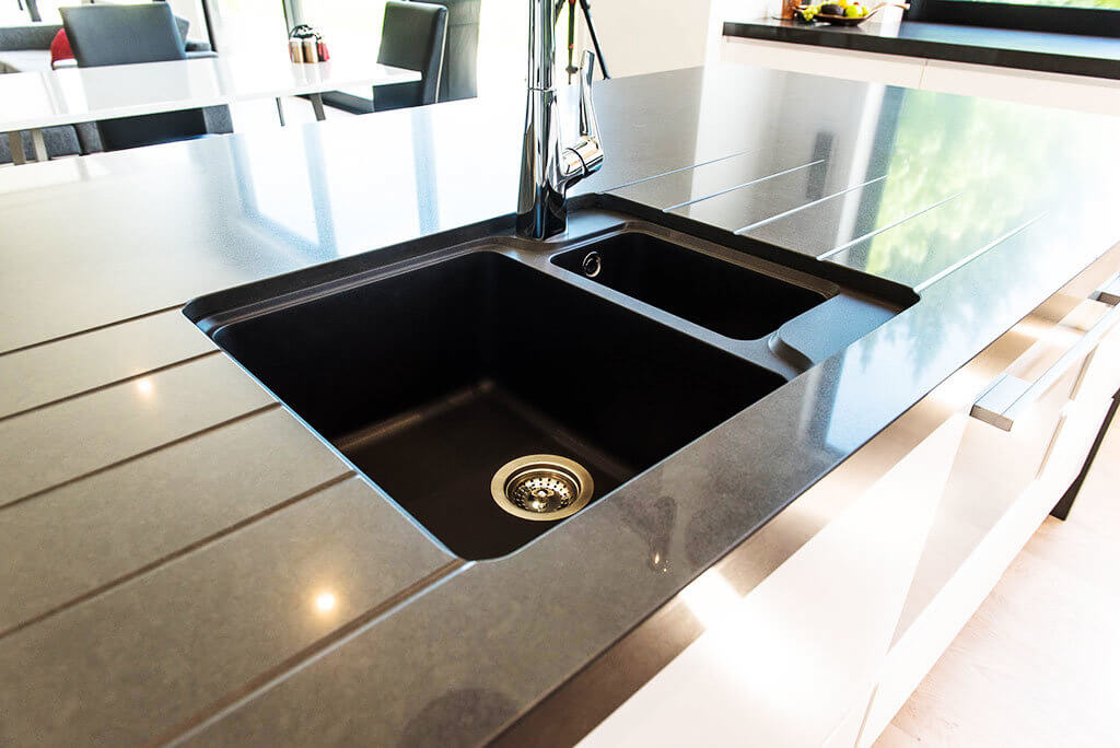 EcoGranite sink insert in Nero.