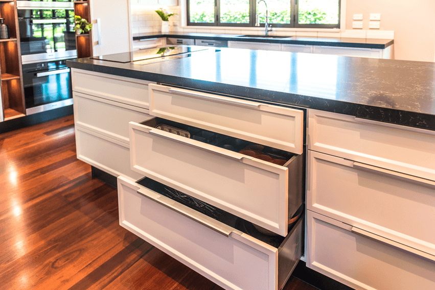 Blum Legrabox drawer system.